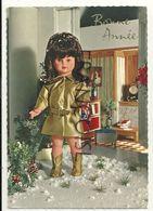 """Bonne Année. Poupée Dans La Neige. """"Poupées"""" UNICA. 1972. JC 13112 - Jeux Et Jouets"""