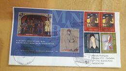 Enveloppe Argentine En Circulation Avec Peinture Au Timbre - Argentine