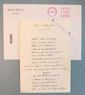 Jean-Louis DEBRE Carte De Voeux 2006 -manuscrit Hymne Des Marseillais Fac Similé - Président Assemblée Nationale - Documents Historiques