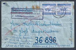 Rare Censored Letter From Wiesbaden To 36896 In 1944. Lost Letter. 2nd World War. Aviation. Zensierter Brief Von Wiesbad - Seconda Guerra Mondiale