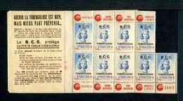 Carnet De 1948  - Tuberculose - Antituberculeux - 18ème Campagne RARE VARIETE 4 Timbres Fond Blanc - Tegen Tuberculose