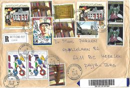 Comores 2019 Moroni World Cup Football Berlin Wall Handicraft De Gaulle Orchid China Registered Advice Receipt AR Cover - Isole Comore (1975-...)