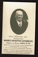 Bid Voor De Ziel - Maurice GHYSBRECHTS (G. De Reu) - Oud-Burgemeester Van Sleidinge - Wetteren 1879 / Sleidinge 1950 - Images Religieuses
