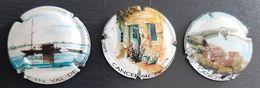 Lot De 3 Capsules Cancen Val De Loire - Placas De Cava