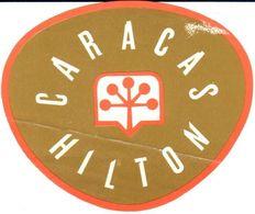ETIQUETA DE HOTEL   -HOTEL CARACAS HILTON - Andere Verzamelingen
