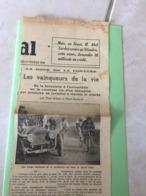 Article De Journal Cycliste 21 Février 1936 La Roue De La Fortune, Les Vainqueur De La Vie Paul Gilson Et Paul Guitard - Documents Historiques