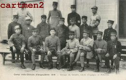 TIRAILLEURS INDOCHINOIS CAMP INDO-CHINOIS D'ANGOULEME GRADES CHEFS D'EQUIËS POLICIERS ANNAMITE TIRAILLEUR GUERRE VIETNAM - War 1914-18