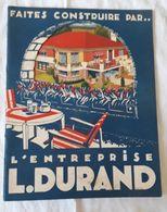 Catalogue Construction Maison Individuelle Entreprise L. DURAND Paris Année 1939 - Architecture