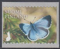 Finland 2019 - Definitive Stamp: Butterfly: Holly Blue - Self-adhesive Stamp ** MNH - Butterflies