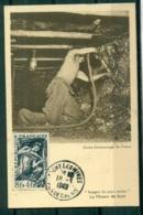 CM-Carte Maximum Card # France-1949 #(Yvert. N° 825)  Métiers : Le Mineur De Fond , Miner Bergmann ,obl. Michy-les-Mines - 1940-49