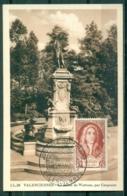 CM-Carte Maximum Card #France-1949 #(Yvert. 855 ) Célébrités XVIII° ,Statue D' A.ntoine Watteau (peintre) Par Carpeaux - 1940-49
