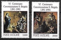 VATICAN     -   1991 .  Y&T N° 906 / 907 **.   Sainte Brigitte. - Vatican