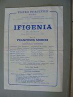 1978  IFIGENIA VOLANTINO BARI  TEATRO PETRUZZELLI STAGIONE LIRICA  CONDIZIONI COME DA FOTO  OPERA LIRICA THEATRE Théâtre - Programmes