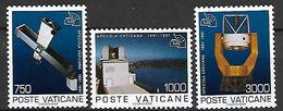 VATICAN     -   1991 .  Y&T N° 908 à 910 (*) .   Observatoire - Vatican