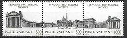 VATICAN     -   1991 .  Y&T N° 911 à 913 ** .  Basilique Saint - Pierre.  Se Tenant. - Vatican