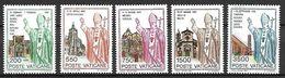 VATICAN     -   1991 .  Y&T N° 914 à 918 ** .   Voyages De S.S. Jean Paul II Dans Le Monde. - Vatican