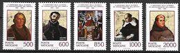 VATICAN     -   1992 .  Y&T N° 919 à 923 (*) .  Christophe Colomb. - Vatican