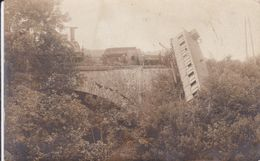 CARTE PHOTO ACCIDENT DE TRAIN A LOCALISER - Trenes