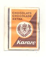 """Façade De Boîte D'allumettes  - Publicité - Chocolat / Chocolade """" KARARE """"   +/- 1960 - . (RMT) - Matchbox Labels"""
