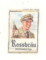 """Façade De Boîte D'allumettes  - Publicité - Bière, Bier """" ROSSBRÄU  """"  Dortmunder Typ +/- 1960 - . (RMT) - Matchbox Labels"""