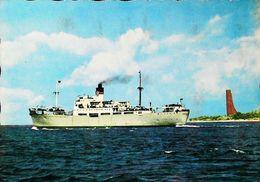 Bateau Mixte Commerce (Cargo  Cruiser Ship ) Port KIEL 1950s - Comercio