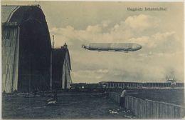 C.P.A. : Dirigeable : Flugplatz Johannisthal, Airport - Aeronaves
