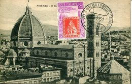 55747 Italia, Maximum 30.3.1951 Centenary Toscana Stamps- Showing  Florence Cathedral  And Campanile Of Giotto,archetect - Kirchen U. Kathedralen