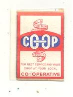 """Façade De Boîte D'allumettes  - Publicité - Scottish Society - Shop Local  """" COOP """" +/- 1960 -. (RMT) - Matchbox Labels"""