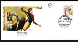 Kenya FDC 1992 Barcelona Olympic Games (NB**LAR9-139) - Summer 1992: Barcelona