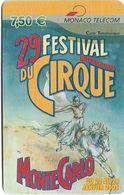 Monaco - Monaco Telecom - Visueal N06, 29e Festival International Du Cirque - Remote Mem. 7.50€, 12.2004, 6.000ex, Used - Mónaco