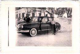 Photo Originale Panhard Dyna Z Aux Sports D'Hiver à Valberg (06470) Vers 1950/60 - Automobili