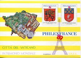 55748 Vaticano  Erinnophilie, 1989 Philexfrance,  Souvenir Du Bureau Philatelique Du Vatican 1989 - Commemorative Labels