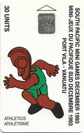Vanuatu - South Pacific Mini Games, Athletics, SC5, Cn. C3A000603, 30U, 10.93, 3.000ex, Used - Vanuatu