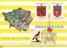 55749 Vaticano  Erinnophilie, 1989 Philexfrance,  Souvenir Du Bureau Philatelique Du Vatican 1989 (avec Obliteration Spe - Commemorative Labels