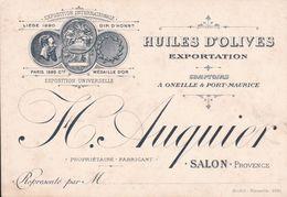 SALON DE PROVENCE HUILES D OLIVES AUQUIER - Visiting Cards