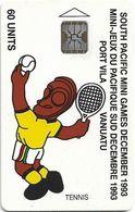 Vanuatu - South Pacific Mini Games, Tennis, SC5, Cn. C3A000602, 60U, 10.93, 3.000ex, Used - Vanuatu