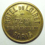 Paris - Hôtel Du Loiret - Jeton De Compteur à Gaz - Monétaires / De Nécessité