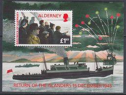 Alderney 1995 - The Return Of The Islanders Of 15 December 1945 - Miniature Sheet Mi Block 1 ** MNH - Alderney