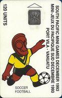 Vanuatu - South Pacific Mini Games, Football, SC5, Cn. C3A000599, 120U, 10.93, 3.000ex, Used - Vanuatu