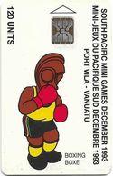 Vanuatu - South Pacific Mini Games, Boxing, SC5, Cn. C3A000598, 120U, 10.93, 3.000ex, Used - Vanuatu