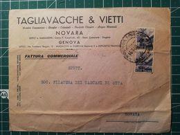 Busta Pubblicitaria / Commerciale Droghe Coloniali Prodotti Chimici Acqua Minerale - Da Novara In Distretto - 6. 1946-.. República