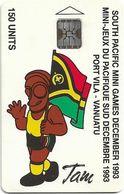 Vanuatu - South Pacific Mini Games, Flag, SC5, Cn. C3A000596, 150U, 10.93, 5.000ex, Used - Vanuatu
