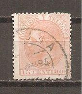 España/Spain-(usado) - Edifil  210 - Yvert  193 (o) (pliegue) - 1875-1882 Reino: Alfonso XII