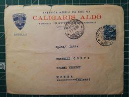 Busta Pubblicitaria / Commerciale Mobili Da Cucina Caligaris - Da Vercelli A Monza - 6. 1946-.. República