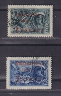 USSR 1944 Michel 899-900 Airmail, Surcharge On Stamps 862-863 Used - 1923-1991 URSS