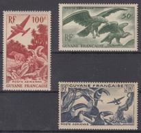 GUYANE : POSTE AERIENNE SERIE N° 35/37 NEUVE ** GOMME SANS CHARNIERE - Guayana Francesa (1886-1949)