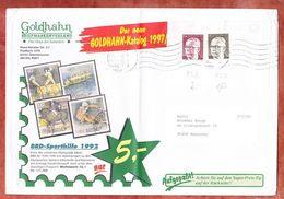 Grossbrief, Heinemann, Handroll Welle Briefzentrum 63, Obertshausen Nach Hannover 1997 (95581) - [7] República Federal
