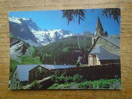 """La Grave , La Meije Et Le Rateau , Depuis L'église De La Grave """""""" Timbre Avec La Lettre C """""""" - Autres Communes"""