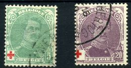 Bélgica Nº 129 Y 131 - 1914-1915 Cruz Roja