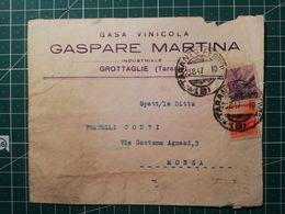 Busta Pubblicitaria / Commerciale Casa Vinicola Gaspare Martina - Da Grottaglie A Monza - 6. 1946-.. República